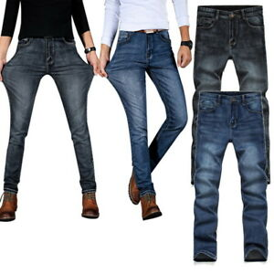 78a044e018 2018 New Men s Demin Jeans High Waist Slim Fit Straight Casual Thin ...
