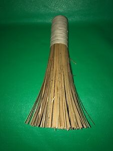 Hand Made Crafted Wisk Whisk Broom Wood Coconut Palm