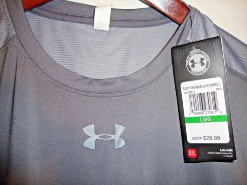 NEW Under Armour Raid Mens Loose Fit Gray SS Shirt Charlotte United Futbol Club