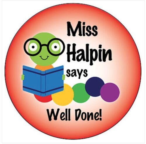 Personnalisé Livre Worm Stickers Récompense bien fait les enseignants école élève 002