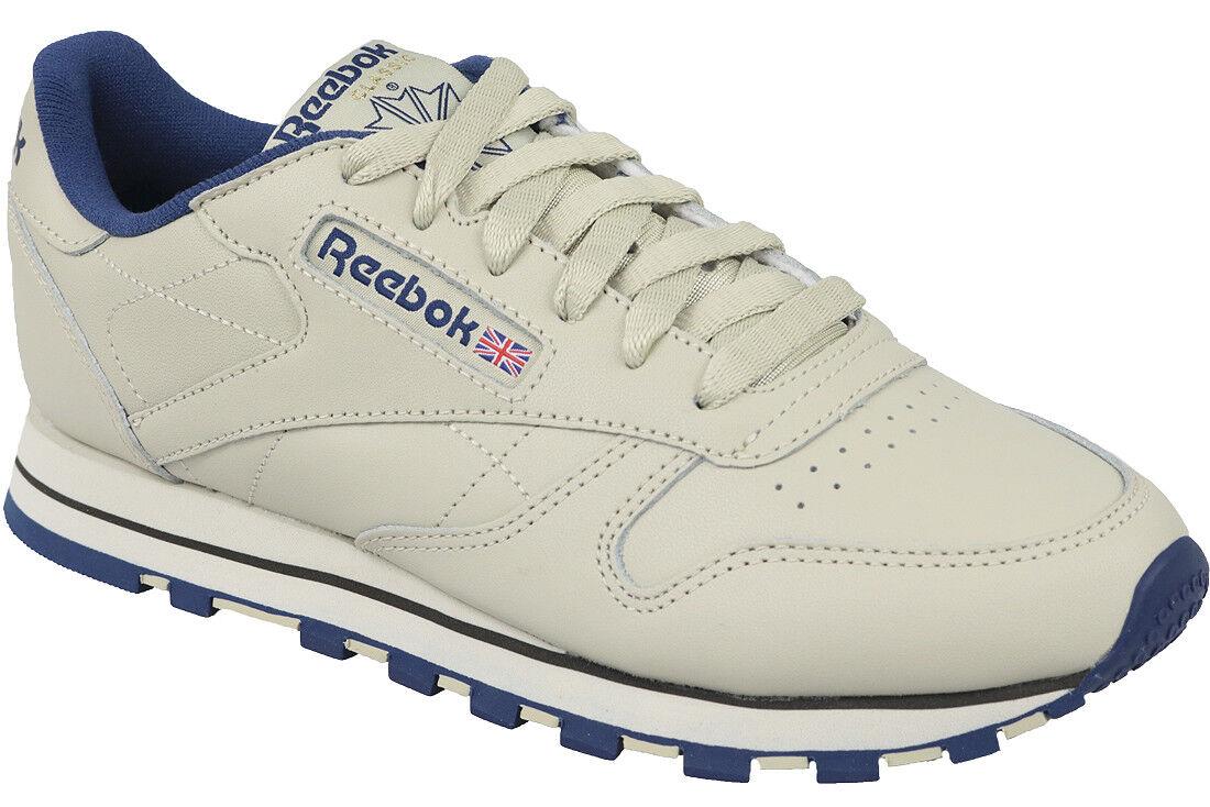 Reebok Classic Leather 28413 señora calzado deportivo zapatillas zapatillas Ecru Navy