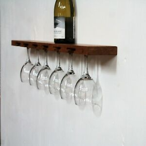 Marvelous Details About Wine Glass Floating Shelf Glassware Storage Bar Wall Shelf Glass And Bottle Rack Download Free Architecture Designs Rallybritishbridgeorg