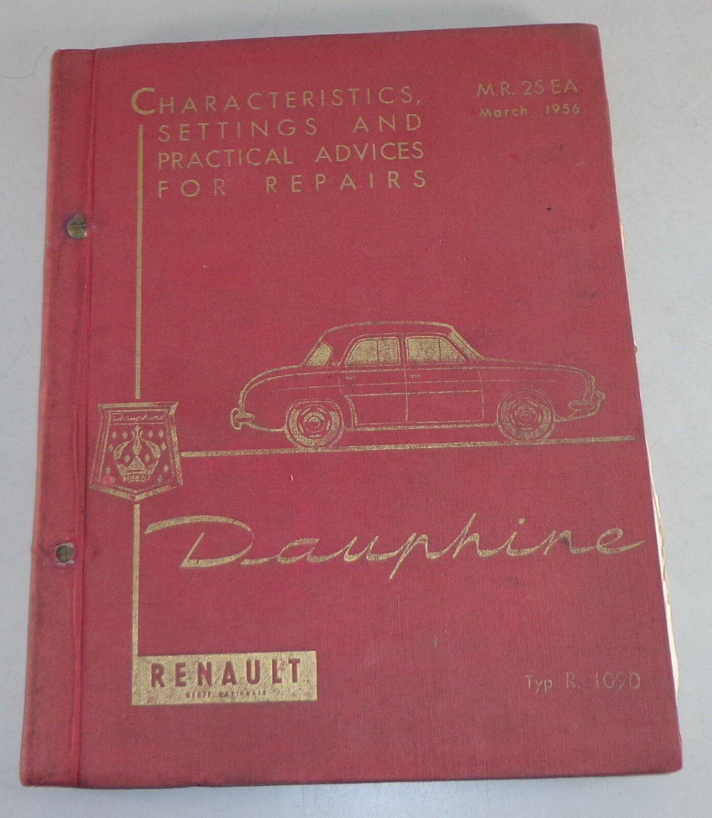 Workshop Manual Renault Dauphine Stand 03 1956
