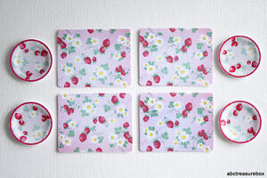 Image is loading Strawberry-Paper-Plates-&-Placemats-1-12-Dollhouse- : strawberry paper plates - pezcame.com