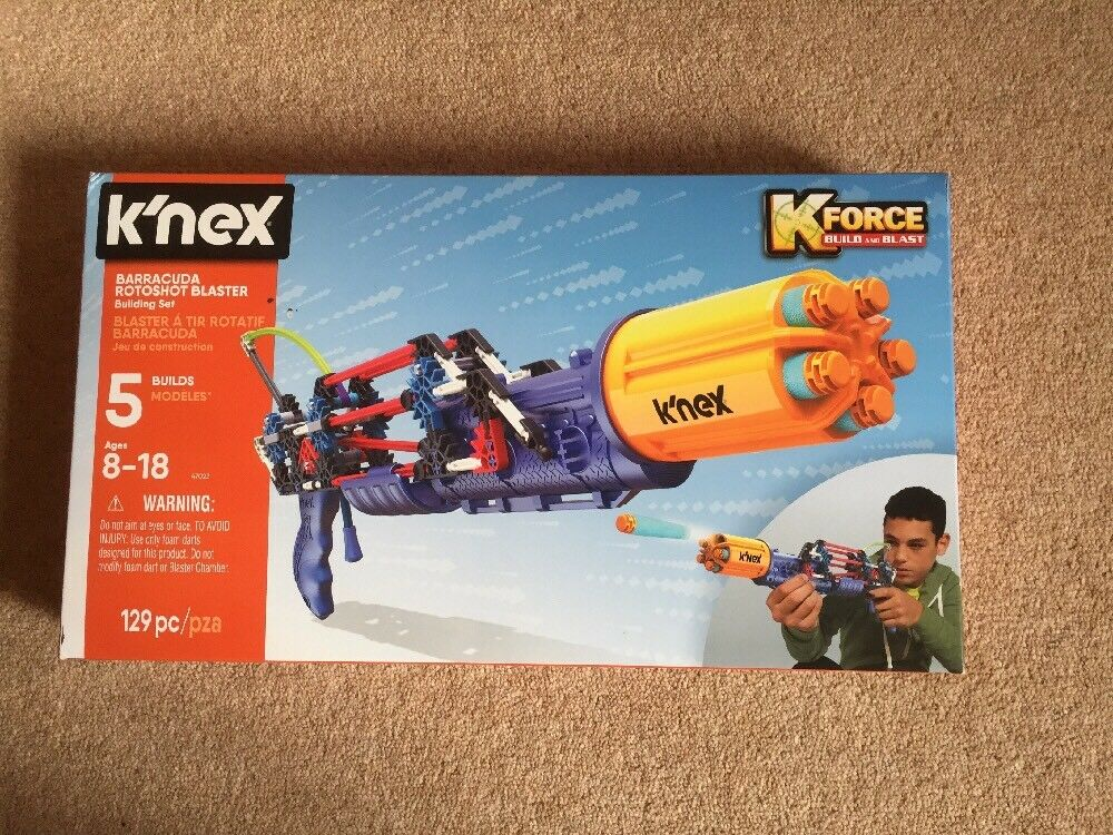 K'nex Kforce Sabertooth redoshot Blaster Building Set NEW