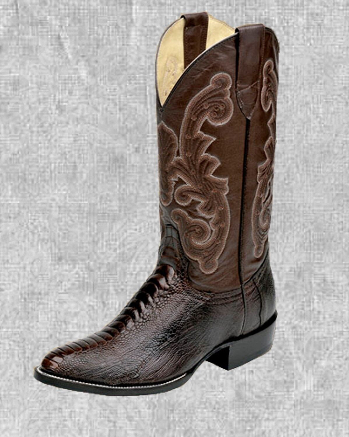 Circle G Corral Mens Brown Exotic Ostrich Round Toe Western Boots 084360 NIB Sz
