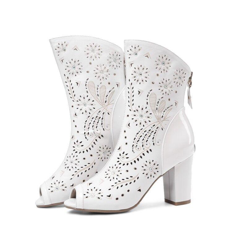 donna Sandals Summer Gladiator Ankle Ankle Ankle stivali Open Toe High Heels Pumps scarpe New 9bde2b