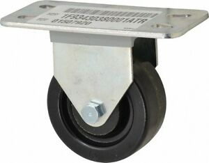 E.R. Wagner 3 Inch Diameter x 1-1/4 Inch Wide, Rigid Caster with Top Plate Mo...