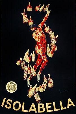 4262.Isobella.harlequin with win bottles.festive.POSTER.decor Home Office art
