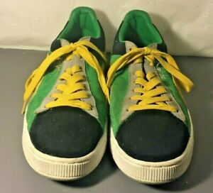 on sale 842eb 2255b Details about Men's Puma Jamaica Green Yellow Canvas Athletic Trainers  Sneakers Shoes Size 13