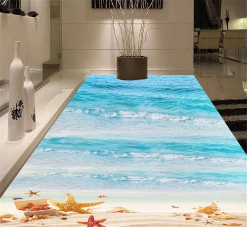 Liberal Fierce Ocean 3D Floor Mural Photo Flooring Wallpaper Home Print Decor