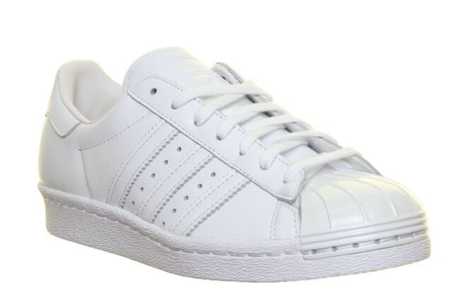 Adidas Superstar Womens Tennis Trainers In White Pearl Shell Toe Size UK 3 8