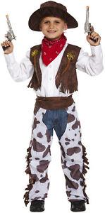 Chico-BOYS-Salvaje-Oeste-Cowboy-Libro-dia-Fancy-Dress-Costume-Varios-Tamanos