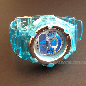 OHSEN-Digital-sport-watch-for-boys-girls-Blue-Alarm-Cool-easy-to-tell-time