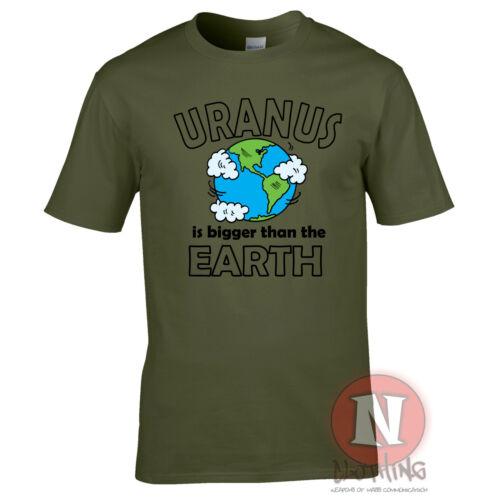 Uranus Is Bigger Than The Earth T-Shirt Dessin Amusant Science Planètes