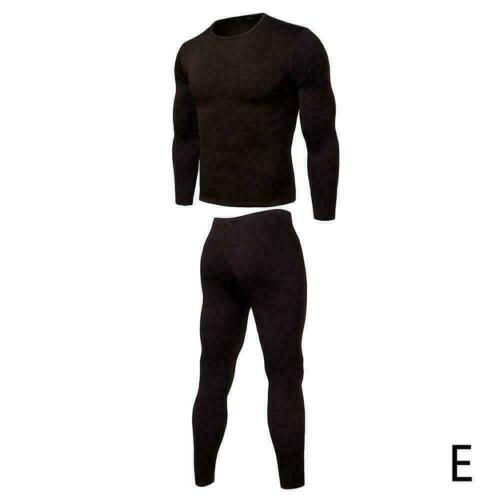 Men Thick Inner Wear Thermal Long Johns Pajama Set Pants A1S5 Underw Warm W K7G0