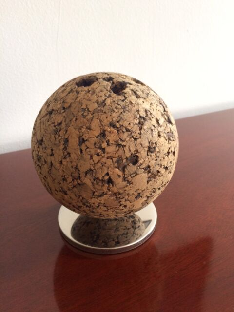 Vintage Mid Century Modern Retro Park Sherman Cork Ball Desk Pen Pencil Holder