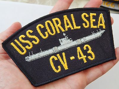Vintage 70's Vietnam USN Navy USS Coral Sea CV-43 Ship Boat Patch