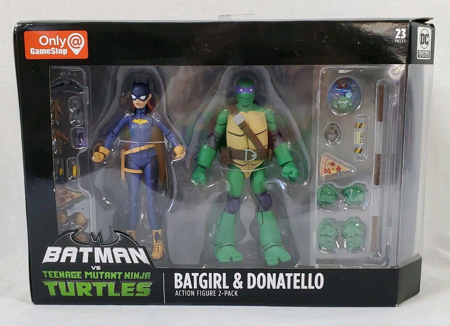 Batman Vs Teenage Mutant Ninja Turtles (TMNT) Donatello & Batgirl 2-Verpackung SDCC