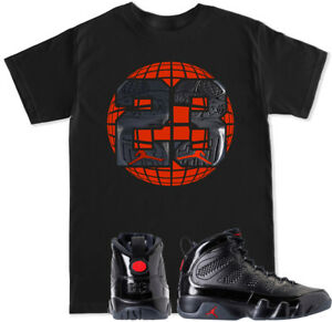 sports shoes 8814e 01dfd Image is loading 2018-Retro-9-Black-T-Shirt-to-match-
