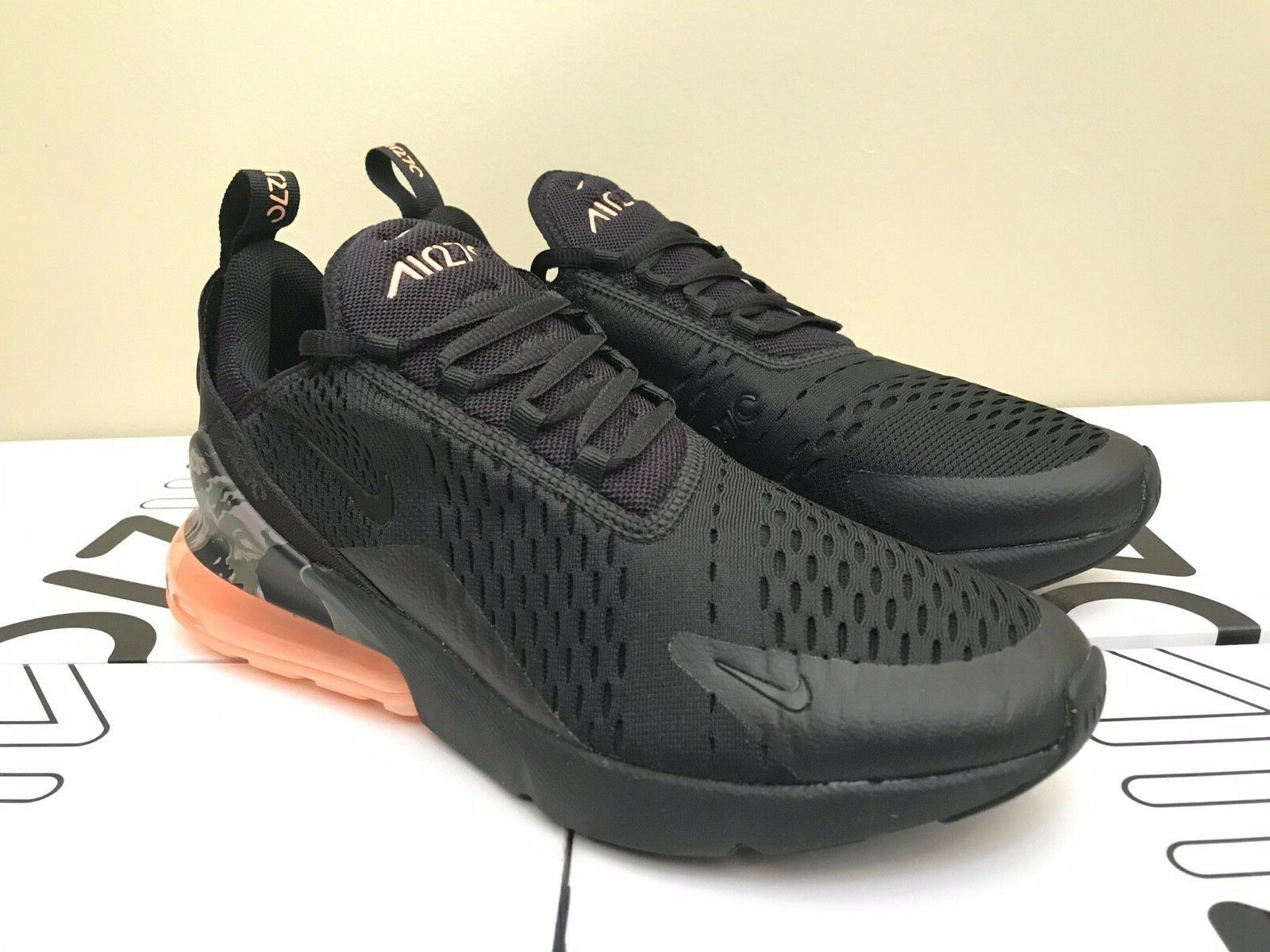 Nike Air Max 270 Camo Sunset, AQ6239 001, (Camo Heel) Brand New