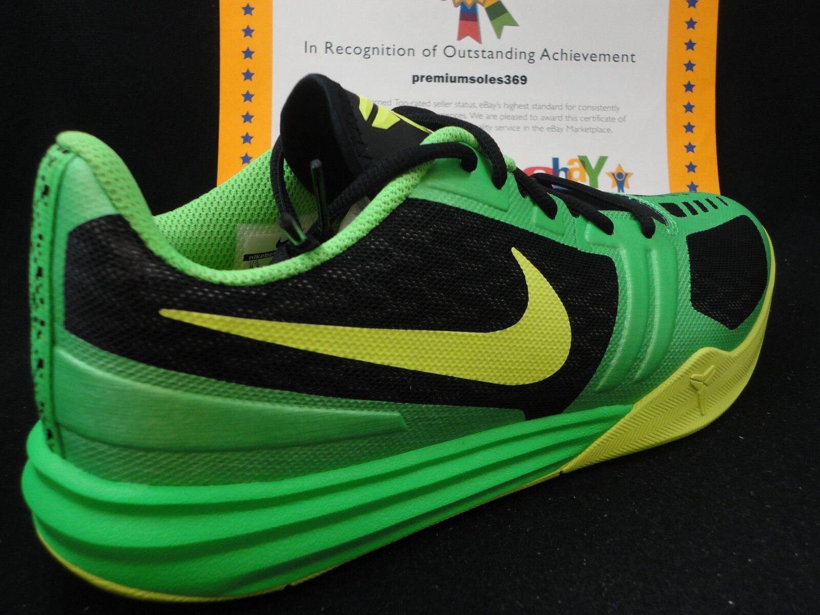Nike kobe Uomotalità, nero / volt / veleno verde, lunarlon, dimensioni