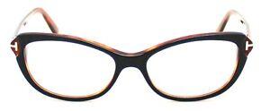 Neuf-TOM-FORD-Noir-amp-Marron-Monture-lunettes-tf5286-5286-Femme-LUNETTES-DE-VUE