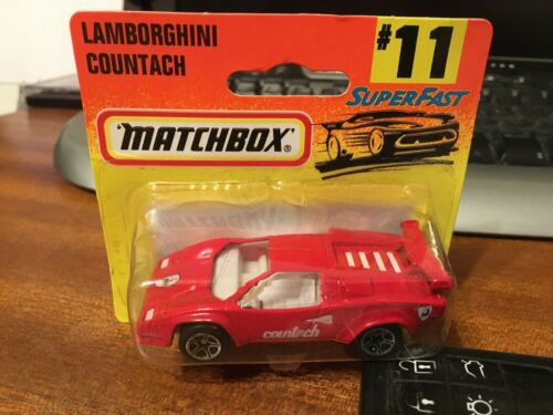 Matchbox MB154 #11 Lamborghini Countach-Sellado Blister
