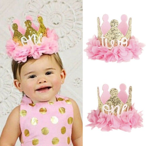 1Pc Baby Girl Boy Birthday Crown Party Hat Headband Party Hair Bands Accessories