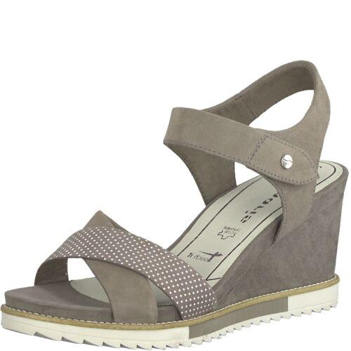 Tamaris 28350-22 Damen Sandale Sandalette ECHTLEDER pepper//grau NEU