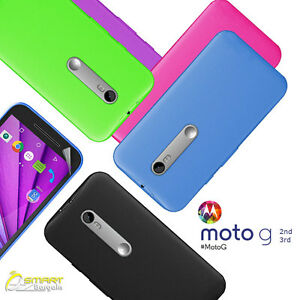 Matte-Gel-Case-TPU-Jelly-Soft-Cover-For-Motorola-Moto-G-3-rd-Gen-2-nd-Gen-SG