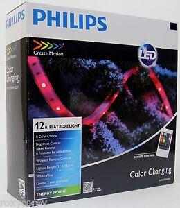 Philips led 12 ft flat rope light 8 color choices wireless remote la foto se est cargando philips led 12 ft plana cuerda luz 8 aloadofball Gallery