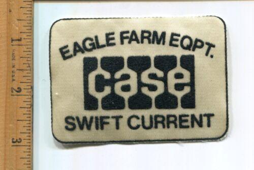 VINTAGE  ADVERTISING EAGLE FARM EQPT SWIFT CURRENT  HAT//JACKET  PATCH -CASE