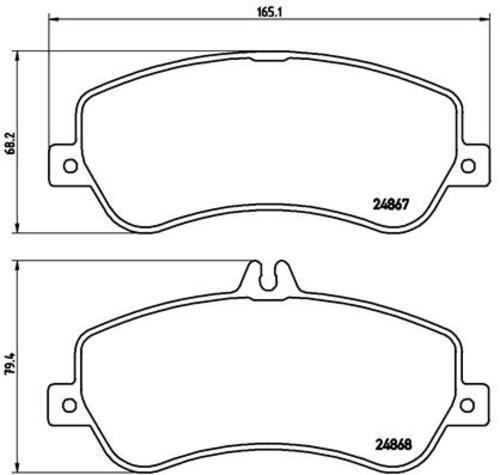 Brembo Disques De Frein Garnitures Avant ø330 Mercedes-Benz GLK X-Classe 3888075