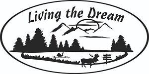 MOTORHOME-CAMPER-VAN-CARAVAN-STICKERS-DECAL-GRAPHIC-LIVING-THE-DREAM-MOOSE