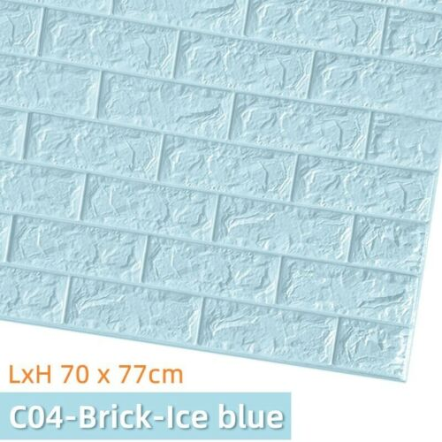 3D Brick Wall Stickers DIY Decor Self-Adhesive Waterproof Wallpaper For Bed Room