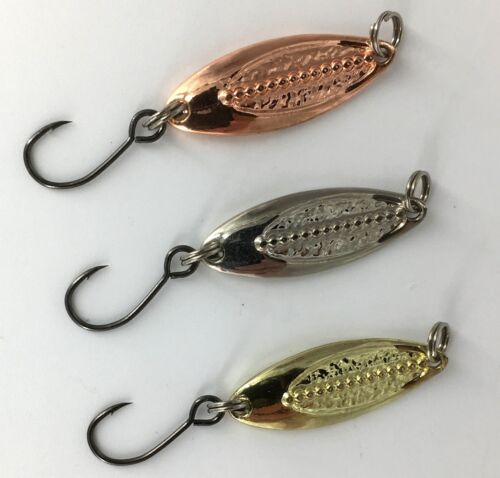 Forellen Blinker Set Barschblinker Trout Spoon 3cm 2,5 Gramm Ooshima Japan