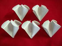 5 Plastic Quad Buzz Bait Blades White Large Size For 3/8oz. And 1/2oz.