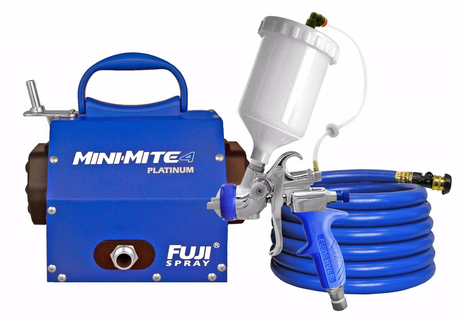 2804-T75G Mini-Mite 4™ Fuji Spray HVLP PLATINUM PLATINUM PLATINUM System w/ FREE Gun Cleaning Kit 344c06