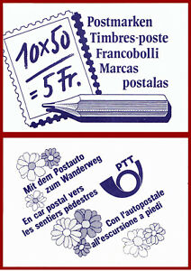 Schweiz-1988-Postbefoerderung-postfrisches-Markenheft-gest-Mi-0-84-SBK-0-84