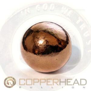 """2/"""" Inch 50mm Pure Copper Bullion Sphere 1 lb 3 oz Native Therapy Ball 19 oz"""