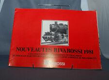 NB CATALOGUE TRAIN RIVAROSSI HO 0 N NOUVEAUTES 1981