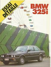 ESSAI ARTICLE PRESSE REPORTAGE 1984 BMW 325 I 12 PAGES
