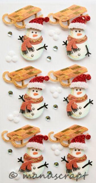 Artoz Artwork 3D-Sticker Weihnachten Winter Sterne silber