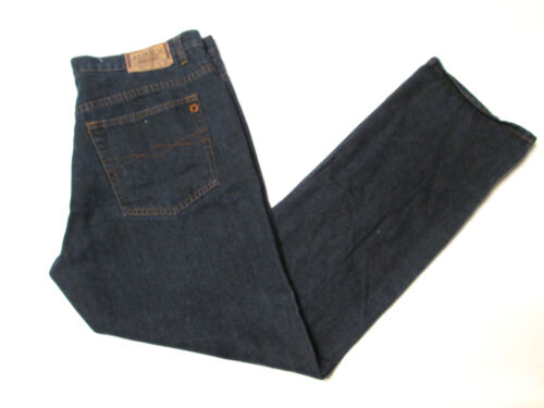 cheap JINGO Men's Jeans Size 38 Quality Clothing Dark Wash Denim Classic Fit #A2 save more