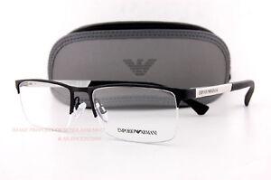 3f542c70e5d9 Brand New EMPORIO ARMANI Eyeglass Frames 1041 3094 Black White Men ...