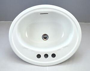... -Whit-Enamel-Cast-Iron-UPC-Deep-Bathroom-Sink-Fixture-Wash-Basin