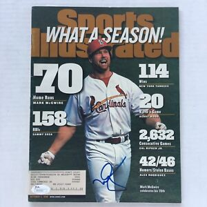 Vtg-Mark-McGwire-Signed-Sports-Illustrated-magazine-JSA-Certified-1998-Autograph