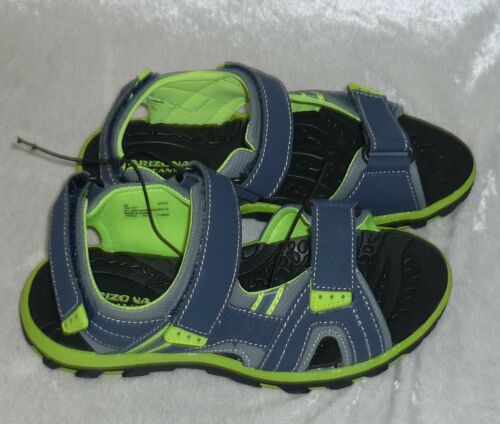 Arizona Jayce Boys Strap Sandals Navy Lime size 12 13 3 NEW