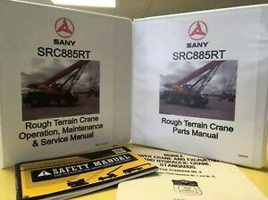 Details about SANY SRT885T Routh Terrain Crane Manual Set